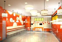 朝外SOHO时尚快餐厅设计       300㎡