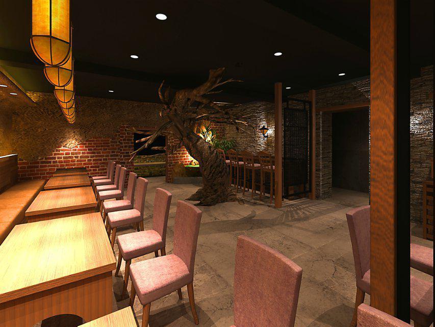 西北乐快餐厅设计       600㎡