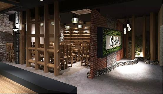 原始人烧烤餐厅设计       300㎡